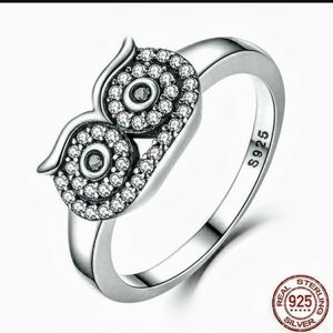 Cute owl ring Sterling silver